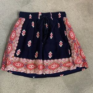 RAGA Boho mini skirt